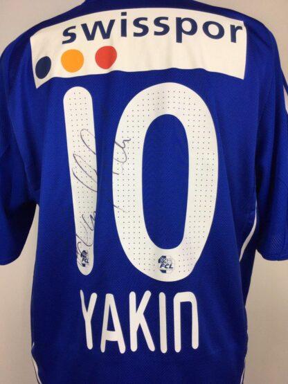 FC LUZERN 2010/2011 HOME SHIRT #10 YAKIN [SIGNED]