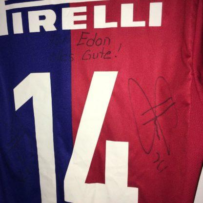 FC BASEL 2012/2013 HOME SHIRT #14 STOCKER [SIGNED]