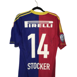 FC BASEL 2012/2013 HOME SHIRT #14 STOCKER [SIGNED]
