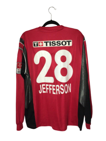 NEUCHATEL XAMAX 2004/2005 HOME SHIRT #28 JEFFERSON [MATCH WORN]