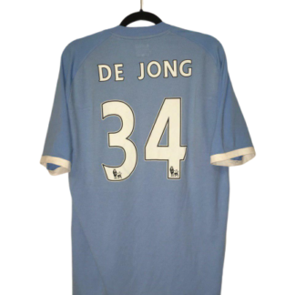 MANCHESTER CITY 2010/2011 HOME SHIRT #34 DE JONG