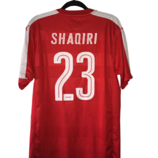SWITZERLAND 2016/2017 HOME FOOTBALL SHIRT FUßBALL TRIKOT JERSEY SHAQIRI #23