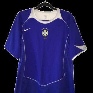 BRAZIL 2004/2006 AWAY FOOTBALL SHIRT SOCCER JERSEY FUTEBOL