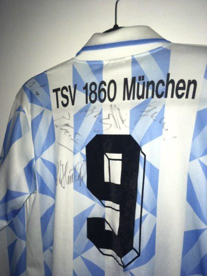 TSV 1860 MUNICH 1993/1994 HOME SHIRT #9 [L/S] [SIGNED]