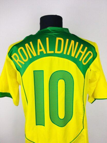 BRAZIL 2004/2006 HOME SHIRT #10 RONALDINHO