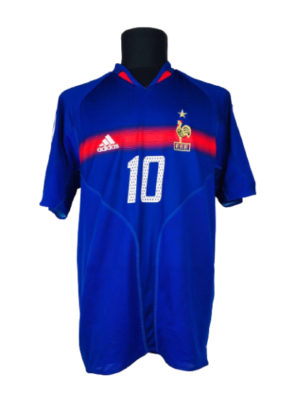 FRANCE 2004/2006 HOME SHIRT #10 ZIDANE