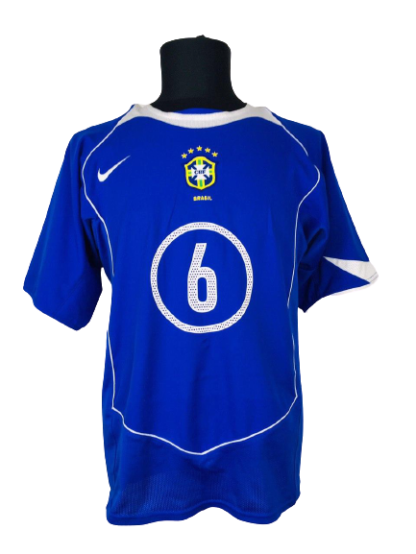BRAZIL 2004/2006 AWAY SHIRT #6 ROBERTO CARLOS