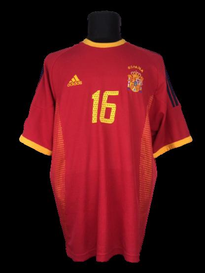 SPAIN 2002/2004 HOME SHIRT #16 MENDIETA