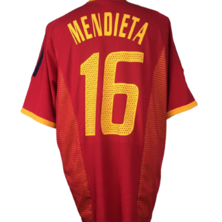 SPAIN 2002/2004 HOME SHIRT #16 MENDIETA