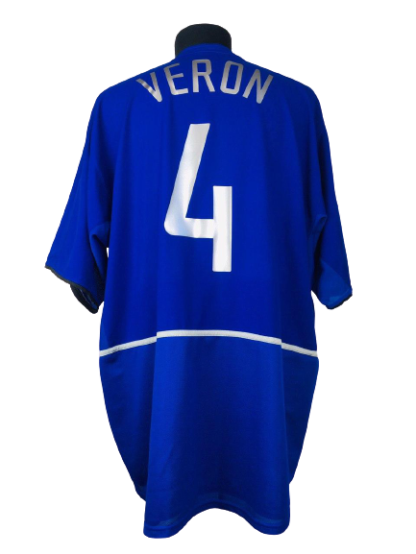 MANCHESTER UNITED 2002/2003 THIRD SHIRT #4 VERON
