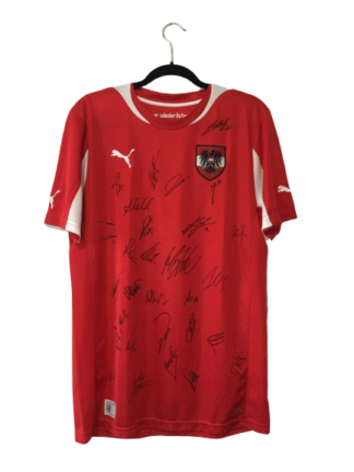 AUSTRIA 2012/2013 HOME SHIRT [SIGNED]