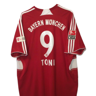 BAYERN MUNICH 2007/2009 HOME SHIRT #9 TONI