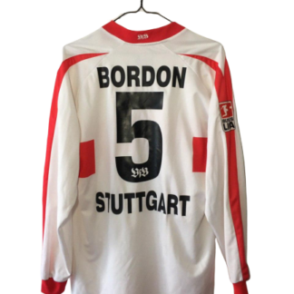 STUTTGART 2002/2003 HOME SHIRT #5 BORDON [MATCH ISSUE] [L/S]