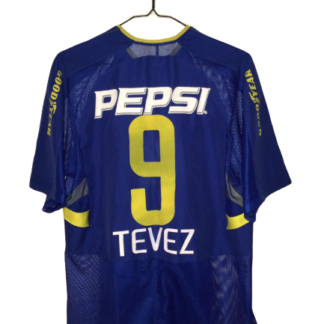 BOCA JUNIORS 2003/2005 HOME SHIRT #9 TEVEZ