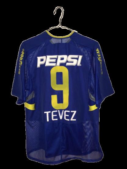 BOCA JUNIORS 2003/2005 HOME SHIRT #9 TEVEZ