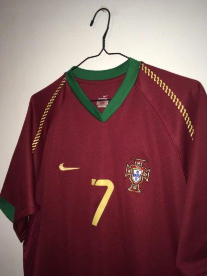 PORTUGAL 2006/2008 HOME SHIRT #7 FIGO