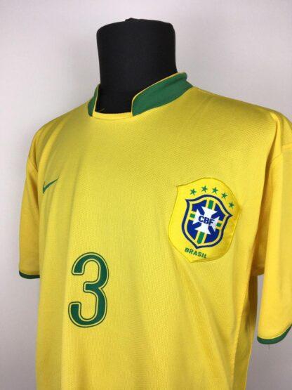 BRAZIL 2006/2008 HOME SHIRT #3 LUCIO