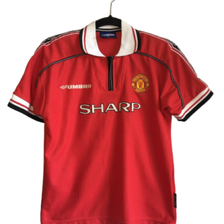 MANCHESTER UNITED 1998/2000 HOME SHIRT [L BOYS]