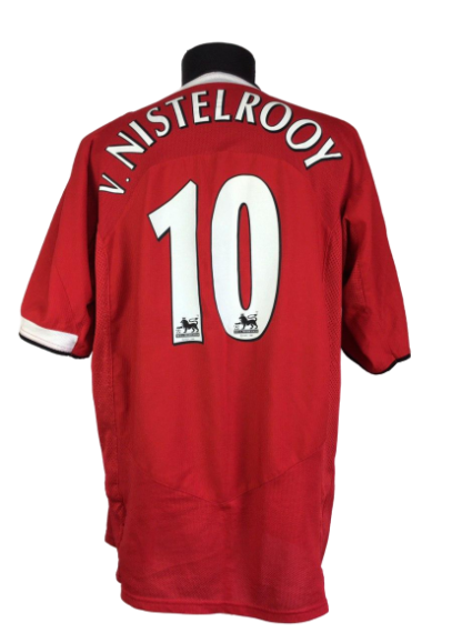 MANCHESTER UNITED 2004/2006 HOME SHIRT #10 VAN NISTELROOY