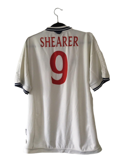 ENGLAND 1999/2001 HOME SHIRT #9 SHEARER