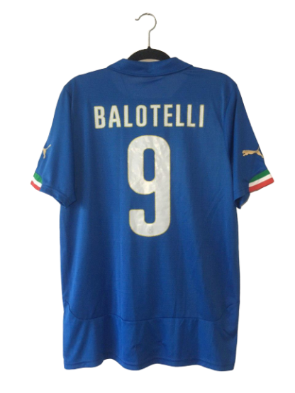 ITALY 2014/2015 HOME SHIRT#9 BALOTELLI