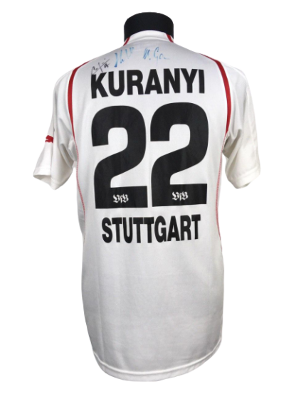 STUTTGART 2004/2005 HOME SHIRT #22 KURANYI [SIGNED]