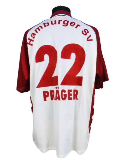 HAMBURGER SV 1999/2000 HOME SHIRT #22 PRAGER