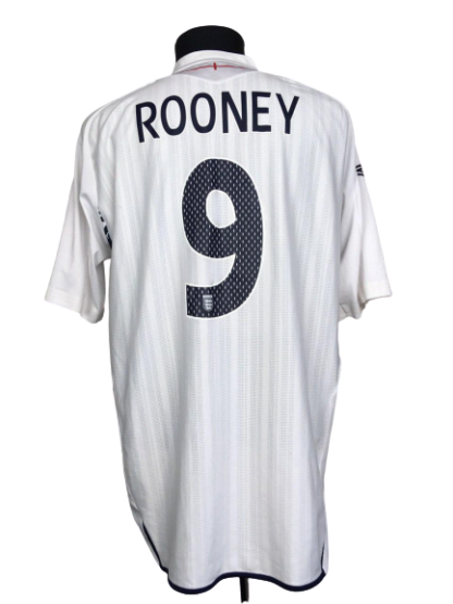 ENGLAND 2007/2009 HOME SHIRT #9 ROONEY