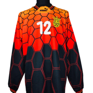 UKRAINE 1997/1998 GK SHIRT #12 [MATCH ISSUE]