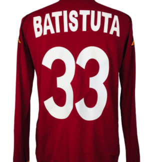 AS ROMA 2002/2003 HOME SHIRT #33 BATISTUTA [L/S]