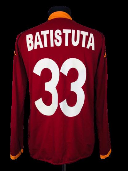 AS ROMA 2002/2003 HOME SHIRT #33 BATISTUTA [L/S]
