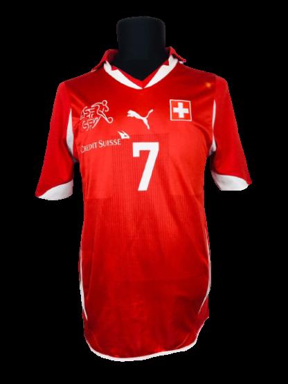 SWITZERLAND 2010/2011 HOME SHIRT #7 BARNETTA [SIGNED]