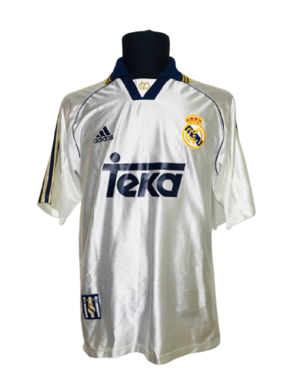 REAL MADRID 1998/2000 HOME SHIRT [S]