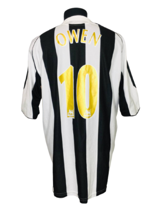 NEWCASTLE UNITED 2005/2006 HOME SHIRT #10 OWEN
