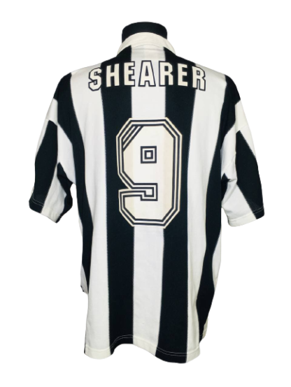 NEWCASTLE UNITED 1995/1997 HOME SHIRT #9 SHEARER