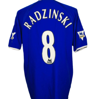 EVERTON 2003/2004 HOME SHIRT #8 RADZINSKI [MATCH ISSUE]