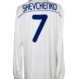 DYNAMO KYIV 2010/2011 HOME SHIRT #7 SHEVCHENKO [L/S]