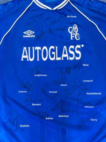 CHELSEA 1999/2001 HOME SHIRT [SIGNED]