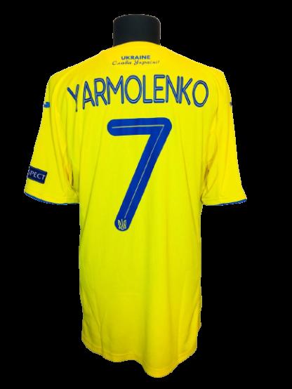 UKRAINE 2020/2021 HOME SHIRT #7 YARMOLENKO [MATCH ISSUE]