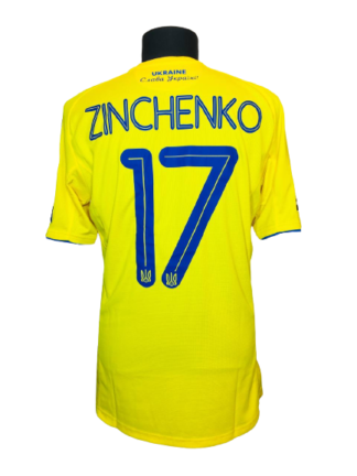 UKRAINE 2020/2021 HOME SHIRT #17 ZINCHENKO [MATCH ISSUE]