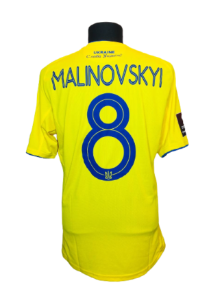UKRAINE 2020/2021 HOME SHIRT #8 MALINOVSKYI [MATCH ISSUE]