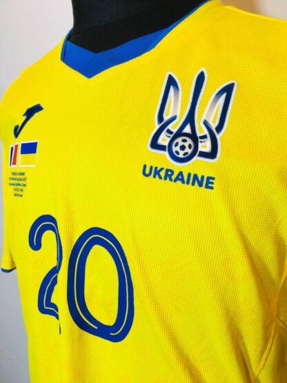 UKRAINE 2020/2021 HOME SHIRT #20 KOVALENKO [MATCH WORN]
