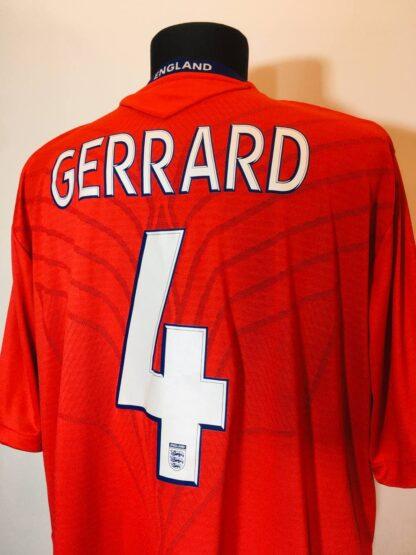 ENGLAND 2008/2010 AWAY SHIRT #4 GERRARD