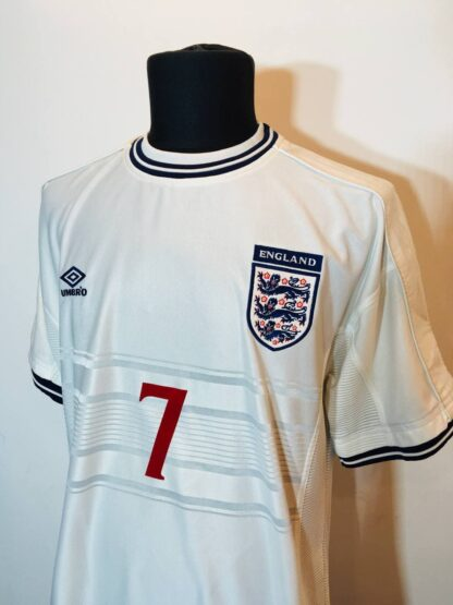 ENGLAND 1999/2001 HOME SHIRT #7 BECKHAM