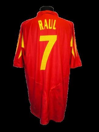 SPAIN 2004/2006 HOME SHIRT #7 RAUL