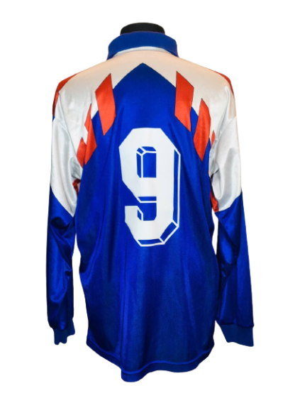 FRANCE 1990/1992 HOME SHIRT #9 PAPIN [PLAYER ISSUE] [L/S]