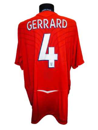 ENGLAND 2008/2010 AWAY SHIRT #4 GERRARD