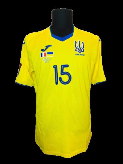 UKRAINE 2020/2021 HOME SHIRT #15 ZUBKOV [MATCH WORN]