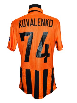 SHAKHTAR 2015/2016 HOME SHIRT #74 KOVALENKO [MATCH WORN]