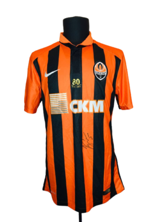 SHAKHTAR 2015/2016 HOME SHIRT #5 KUCHER [MATCH WORN] [SIGNED]